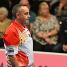 Simon Skelton in action at the World Indoor Bowls Championships Picture: Jamie Honeywood