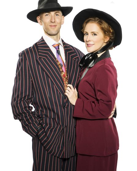 Phil Ormerod as Sky Masterson and Holly Graham as Sarah Brown in the Norfolk and Norwich Operatic So