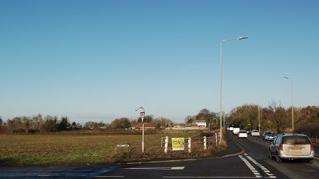 The proposed development sites straddle the busy A10 at West Winch Picture: Chris Bishop
