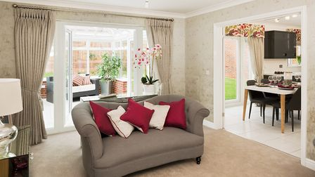 The interior of Bennett Homes' new development at Old Costessey reflects modern living. Picture: Kei