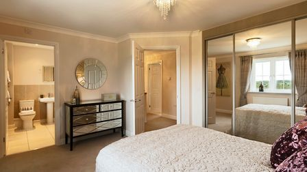 Bennett Homes' new development in Old Costessey features ensuite facilities in its master bedrooms.