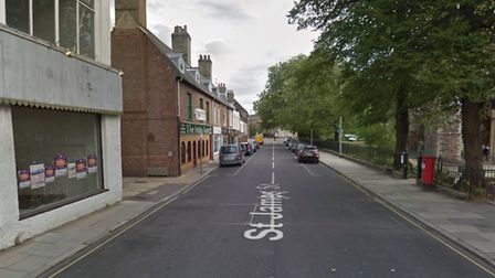 St James Street in King's Lynn is getting £25,000 worth of pavement maintenance. Photo: Google
