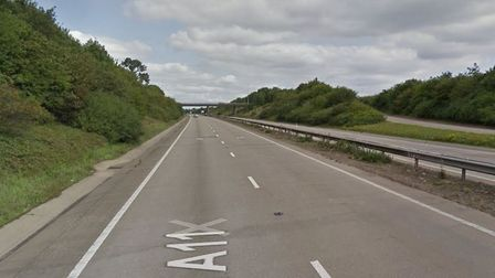 The A11 near Spooner Row. There are overnight closures planned between Spooner Row and Tuttles Lane