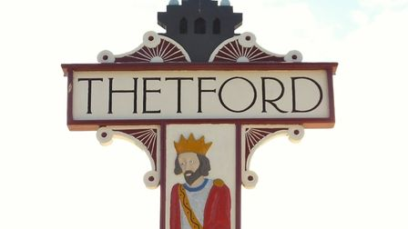 Thetford town sign. Picture: ANDREW TULLETT