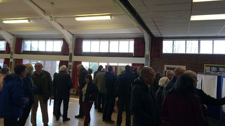 More than 200 people atteneded a meeting held today in West Winch regarding the proposed build of 50