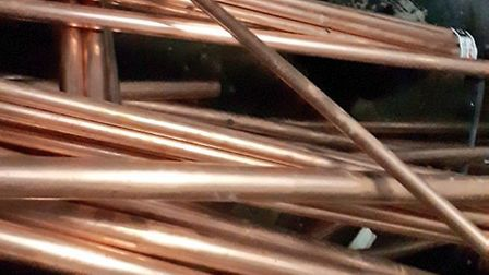 Copper piping Norfolk police believe may be stolen. Photo: Norfolk police