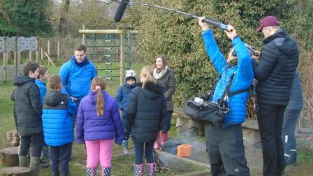 Countryfile presenter Matt Baker and a film crew from the BBC One show visited Catfield C of E Prima
