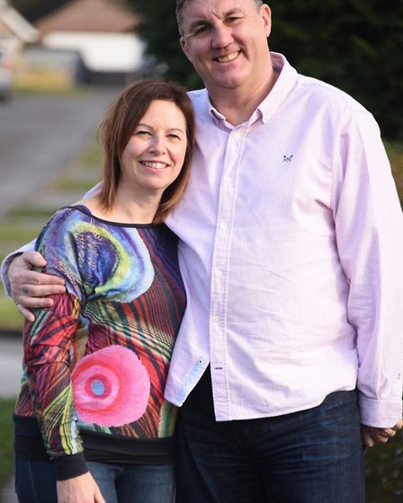 Mike and Debbie Palmer, who married recently. Mike has a brain injury after having a brain tumour, b