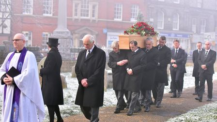 Funeral for former town councillor, John Groom, St.Mary's Church, Bungay. PICTURE: Jamie Honeywood