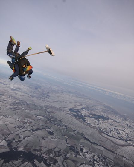 While most of the region were escaping the cold thrill seekers plunged from 13,000 in -25 conditions