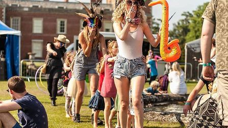 The Red Rooster Festival parade at Euston Hall in Suffolk. Photo: Courtesy of Orbit PR