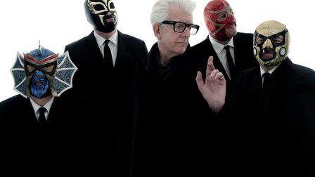 Nick Lowe & Los Straitjackets who will headline the Friday night at Red Rooster Festival 2019. Photo