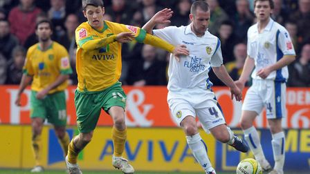 Wes Hoolahan in action during Norwich City's win over Leeds Picture: Archant