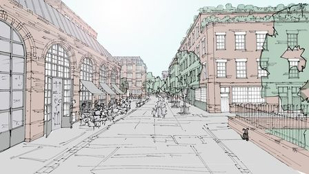 St Mary's Works development - view from St Martin's Lane. Picture: Our Place