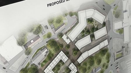 Signs at St Mary's Works public consultation