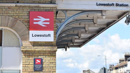 The entrance to Lowestoft central railway station., near to where the assault happened. Picture: Arc