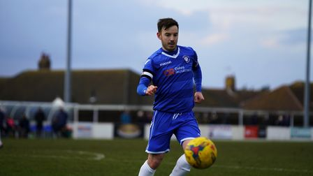 Lowestoft's Adam Smith in action against Stourbridge. Picture: Shirley D Whitlow