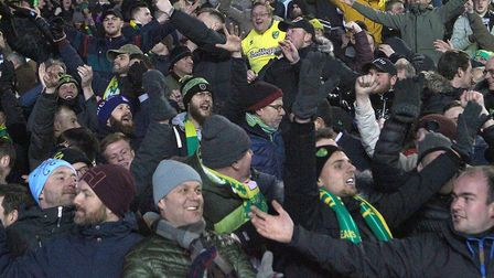 Norwich City's travelling support had a night to savour at Elland Road Picture: Paul Chesterton/Focu