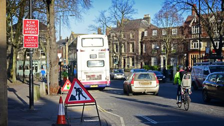 Tombland roadworks in 2015. Picture: Archant