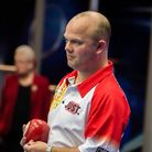 Stewart Anderson beat Open singles champion Mark Dawes at Potters Picture: Mike Copestake Photograp