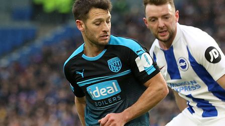 Wes Hoolahan was in FA Cup action for West Brom at Brighton Picture: PA