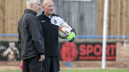 Kings Lynn Town manager Ian Culverhouse, left, and his assistant Paul Bastock Picture: Matthew Usher
