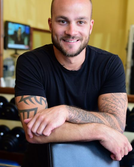 Personal trainer and owner of Gym 121 Brad Williams. Picture: Denise Bradley