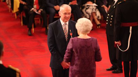 Ian Clayton was made an MBE (Member of the Order of the British Empire) by the Queen at Buckingham P