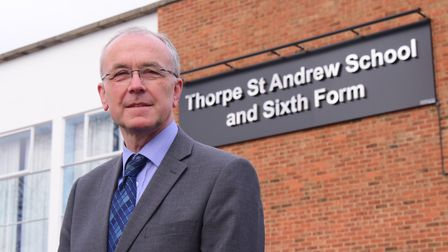 Ian Clayton has been principal at Thorpe St Andrew School for 18 years. Picture: Archant