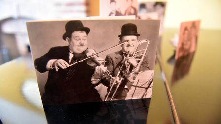 Tony Cooper, has a large collection of Laurel and Hardy memorabilia and spent the day with them in t
