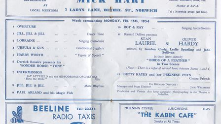 The original advert for Laurel and Hardy. Picture: Tony Cooper
