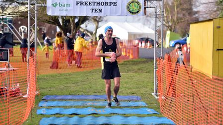Ely Runners' Alan Darby was second in the senior men's race. PICTURE: Jamie Honeywood