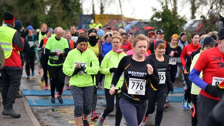 Action from the Freethorpe 10 mile race. PICTURE: Jamie Honeywood