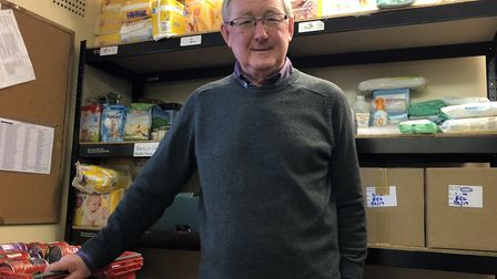 Mid Norfolk Foodbank project manager Dave Pearson said it has had a significant increase in demand o