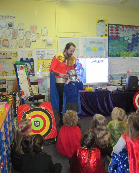 Year 2 children at Angel Road Infant School have been exploring the world of Superheroes to inspire