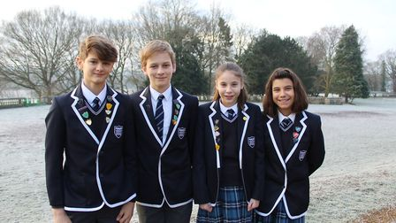 Langley Preparatory School at Taverham Hall have announced four Year 8 pupils as Senior Prefects. Ph