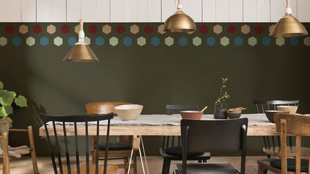 Geometric honeycomb patterns make the biggest impact Picture: Dulux