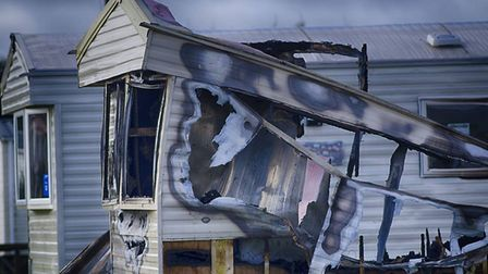 The suspected arson attack took place on Saturday, January 19. Picture: Ron Marshall