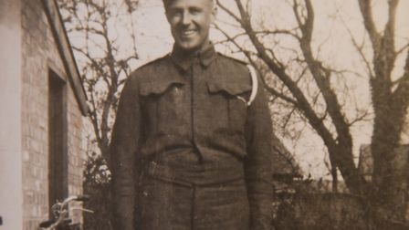 Colin Hunt's father, Frank, at home at Tottington before his service abroad. Picture: courtesy of Co