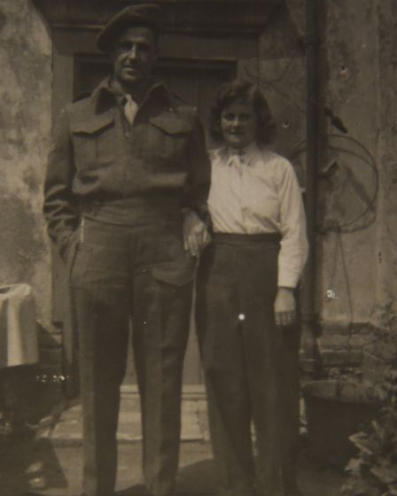 Colin Hunt's parents, Frank and Dorothy (Dolly), at Watering Farm after leaving Tottington. Picture: