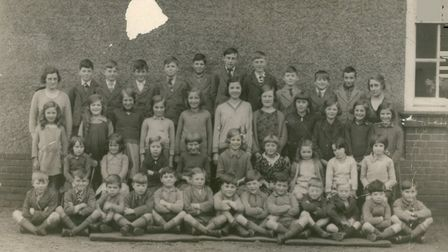 A picture of a class in Tottington School. Date: 1935. Picture: EDP Library