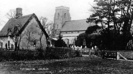 St Andrew's Church and Vicarage, Tottington, in 1904.; Photo: Archant Library