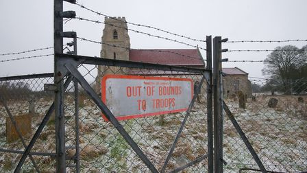 A church at Tottington in the STANTA military training area where villages were abandoned during the