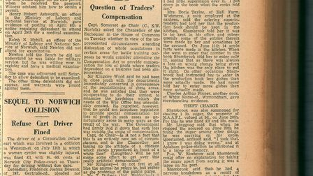 Stanta (Tottington) report in the Norwich Mercury - 8 Aug 1942. Picture: EDP Library