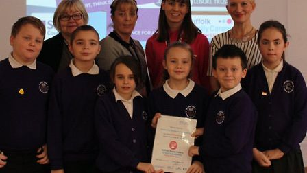 Staff and young carers at Northfield St Nicholas Primary Academy were all smiles after they were hon