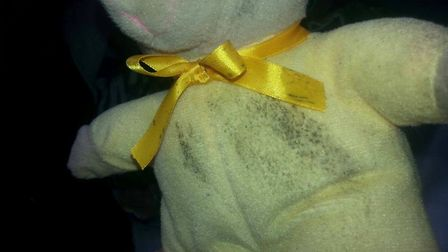 Even children's toys were affected by the mould in the Glebe Close flats. Picture: Angelika Miko