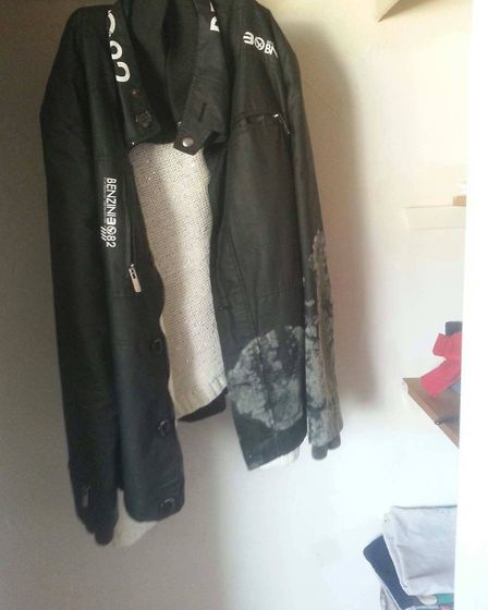 Clothes in the flat were also affected badly by the mould. Picture: Angelika Miko