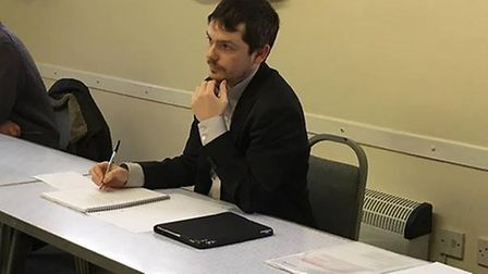 County Councillor Rhodri Oliver chaired the meeting in Connaught Hall on Saturday (February 2, 2019)