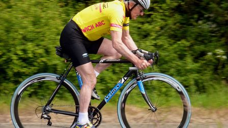 Derek Lusher setting out on a '10' near Newmarket in May 2015 Picture: Fergus Muir