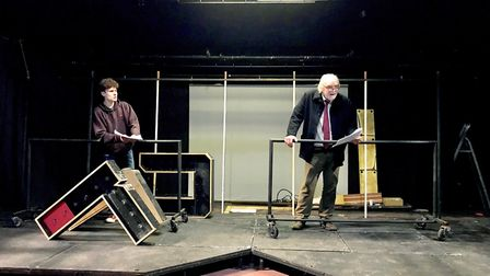 A Man of Letters rehearsals